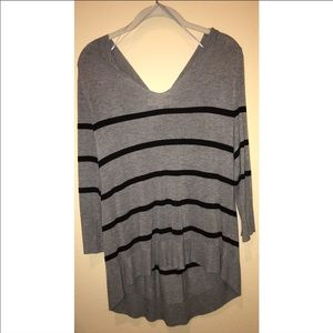 Vince Camuto high low striped sweater - XS